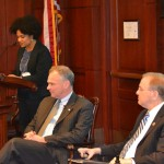 L to R: Fatima Goss-Graves, Tim Kaine, and Jim Langevin